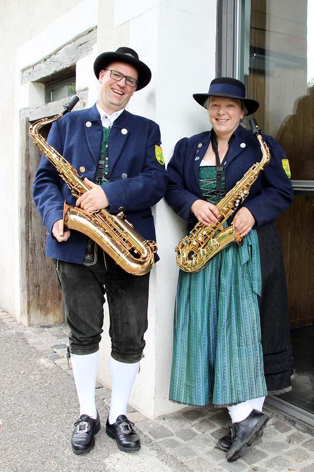 Saxophon Register Musikverein Grünkraut