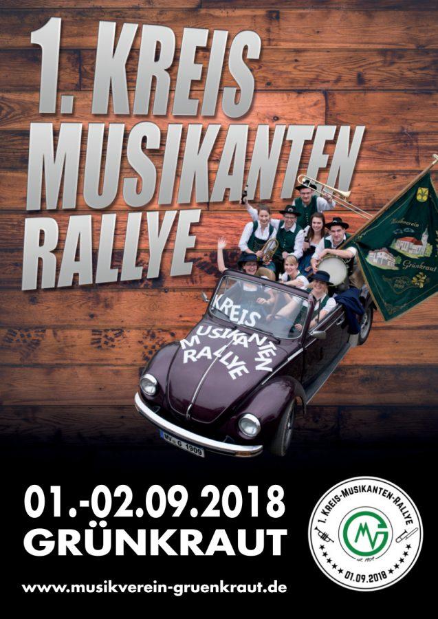 1. Kreis Musikanten Rallye Flyer Vorderseite
