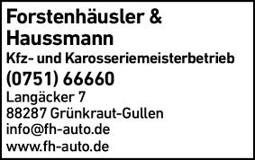 Forstenhäusler-Hausmann