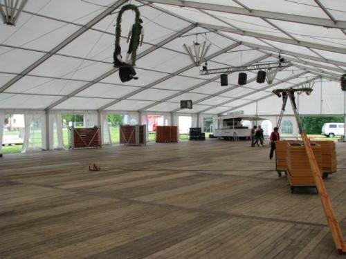2009 Jubiläum Aufbau